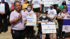 Activists march against prison State moving forward with plan for new women's prison