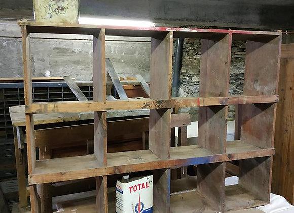 Meuble d'atelier 12 cases