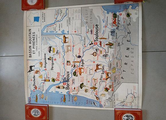 cartes scolaire de géographie