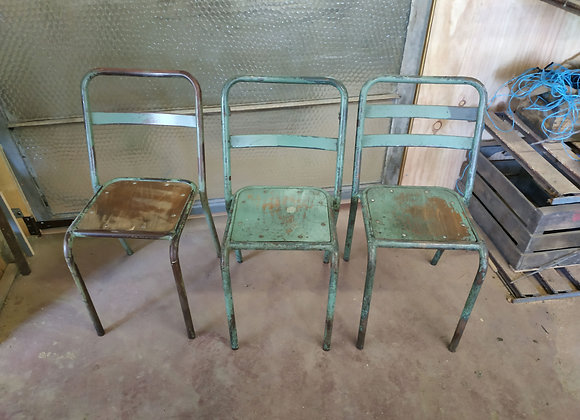 Lot de 3 chaises industriel
