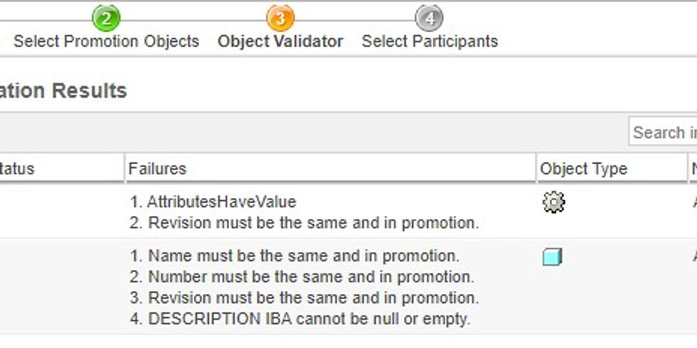 Windchill Object Validator Demo Session