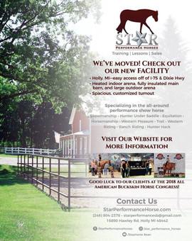 Horse Show Program Business Ad 2018