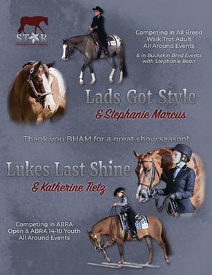 Horse Show Program Exhibitor Ad 2019