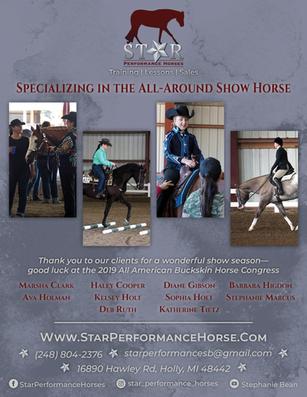 Horse Show Program Business Ad 2019