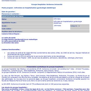 Infirmier en hospitalisation gynécologie obstétrique à l'hôpital Trousseau, Paris (75)