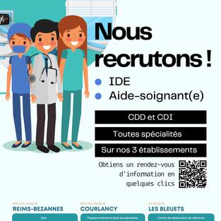 IDE et aide-soignant CDI et CDD - Reims (51)