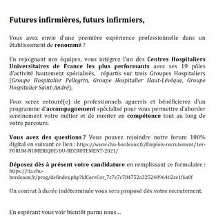 Infirmiers - CHU de Bordeaux (33)