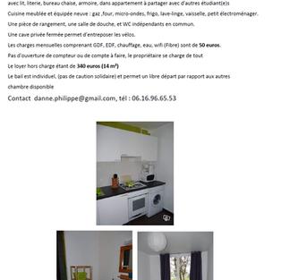 Chambre meublée - Compiègne