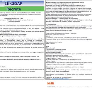 Infirmier - CESAP Clermont (60)