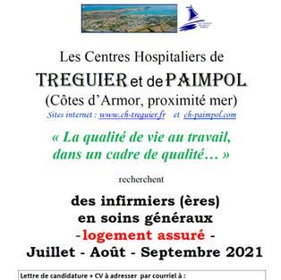 Infirmiers CDD - Centres hospitaliers de Treguier et de Paimpol (22)
