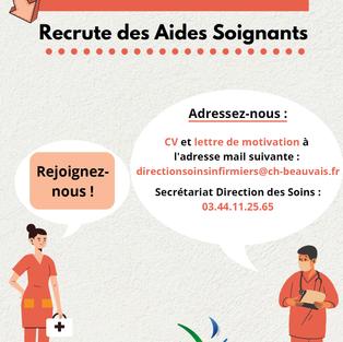 Aides-Soignants - Centre hospitalier de Beauvais (60)