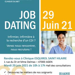Job dating infirmier CDI - Clinique Esquirol Saint-Hilaire à Agen (47)