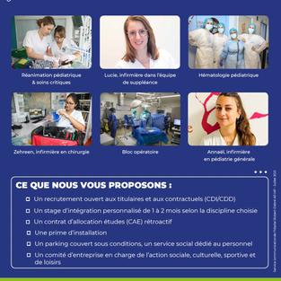 Infirmiers, Hôpital Robert Debré APHP à Paris (75)