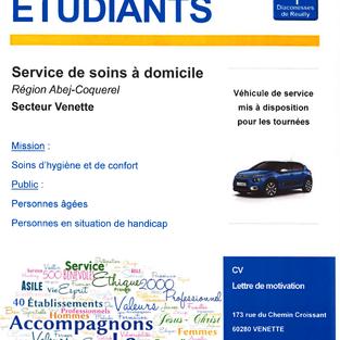 Etudiants - Service de soins à domicile à Venette (60)