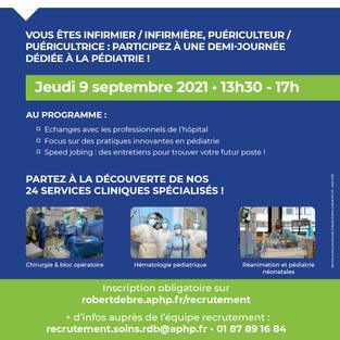 Recrutement pédiatrie - Hôpital Robert-Debré à Paris (75)