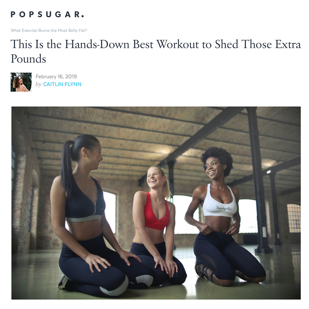 Screenshot of article of Popsugar about best workout