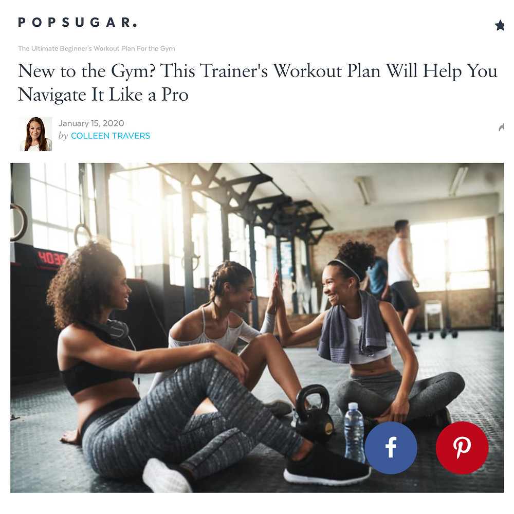 Screenshot of a popsugar article