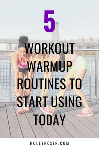 Try these 5 types of warmup routines for running, HIIT, Barre, indoor cycling, and Rowing to minimize injuries and prepare you for an amazing workout!