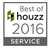Badge - Winner Best of Houzz 2016 Service Award | Ideal Drape Makers