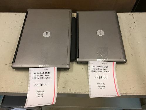 Mixed laptops: Dell Latitude D620 - Grad A