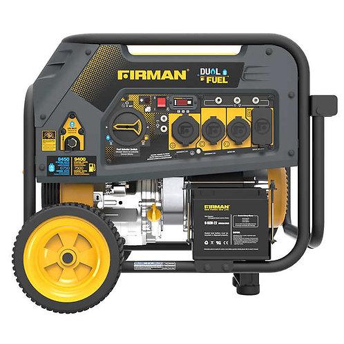 Firman Power Dual Fuel Generator 7500 Running Watts