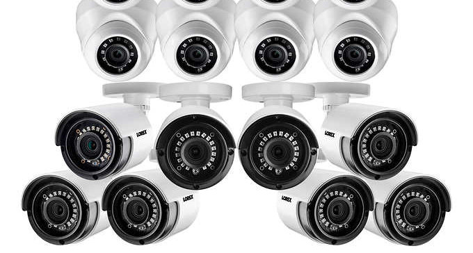Lorex 16 Channel 1080p 2TB DVR Security System with 16 1080p Cameras (8 domes &
