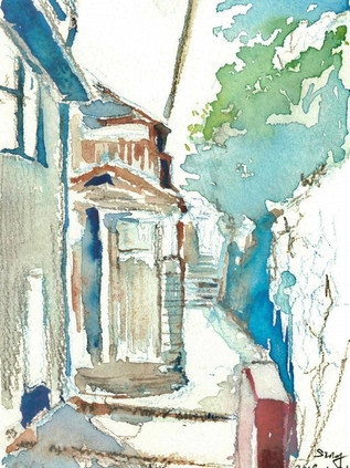 Onomichi Shopping Street, Japan, 2018  Watercolor on paper , 240mm x 310mm  HKD 720 each    Dated and signed by me,ready to frame.