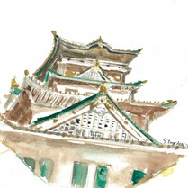 Osaka, Japan  Watercolor on paper ,160mm x 160mm  HKD 420 each    Signed by me,ready to frame.