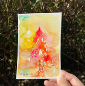 Autumn Tree Series , 4 pieces, 2021  Watercolor on paper  105mm x 155mm  HKD 150 each 、HKD 400 for 4    Dated and signed by me, without frame.