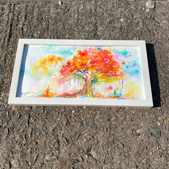 Autumn Tree Series, 2021  Watercolor on paper  200mm x 400mm  HKD 720    Dated and signed by me, ready to frame