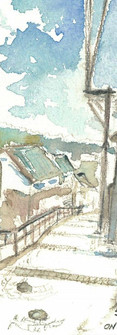 Onomichi, Hiroshima, Japan, 2018  Watercolor on paper (Postcard)  148mm x 100mm  HKD 200 each   Onomichi, Hiroshima, Japan, 2018  Watercolor on paper ,148mm x 100mm  HKD 250 each    Dated and signed by me, ready to frame Dated and signed by me, ready to frame
