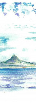 Okinawa,Japna 2018  Watercolor on paper ,120mm x 210mm  HKD 320 each    Dated and signed by me,without frame.