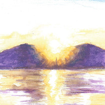 Sunset Series , Ma On Shan,8 pieces  Watercolor on paper, 150mm x 150mm / 160mm x160mm  HKD 250 each    Signed by me, ready to frame.