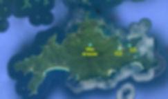 mapa ilha grande, Map of beaches ilha grande, mapa das praias ilha grande