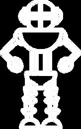 robot in gradient background