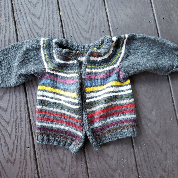 Scrappy the Baby Sweater