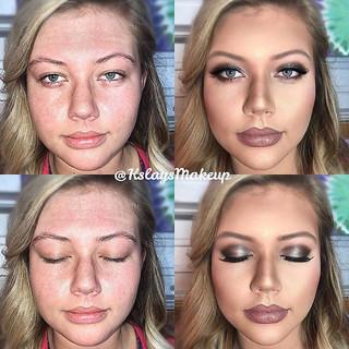 __Full Glam Prom Makeup on beautiful Sum