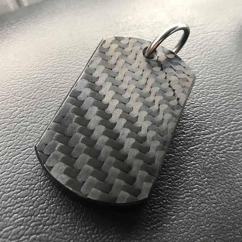 Fat Carbon Dog Tag #3