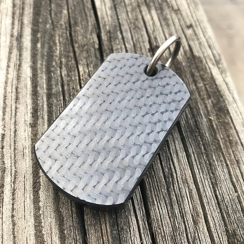 Fat Carbon Fiber Dog Tag