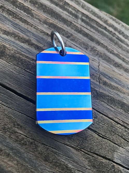 Racing Stripe Timascus Dog Tag