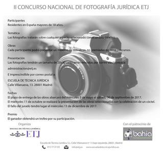II CONCURSO NACIONAL DE FOTOGRAFÍA JURÍDICA