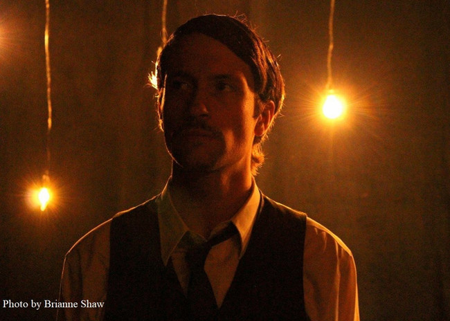 "As J.M. Barrie in ""Neverman"" (2015)"