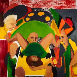 Benninga.birth.150x140 cm.oil on canvas.