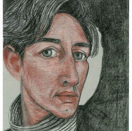 Self, pencil pastel and charcoal on pape