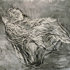 1. Bird- Landscape #6, 2007, Charcoal on