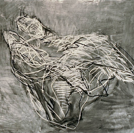 1. Bird- Landscape #6, 2007, Charcoal on