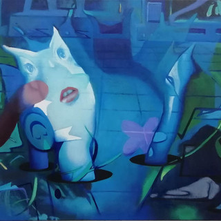 Juice WRLD, 55x80 cm, oil on canvas,2019