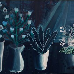 Pearl Schneider, plants, Acrylic on canv
