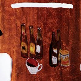 Beer Bottles_2017_Oil, industrial paint