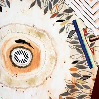 Shower_2017_Oil, pencils, idustrial pain